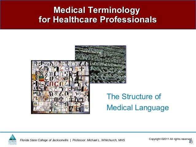 Medical Terminology             for Healthcare Professionals                                                              ...