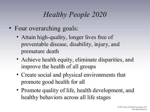 Ch01 outline - Healthy people 2020 is a plan designed to ...