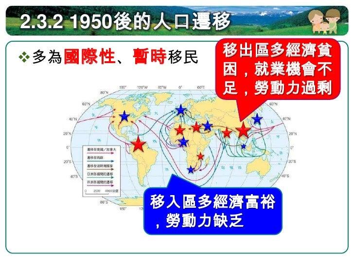 2.3.2 1950後的人口遷移