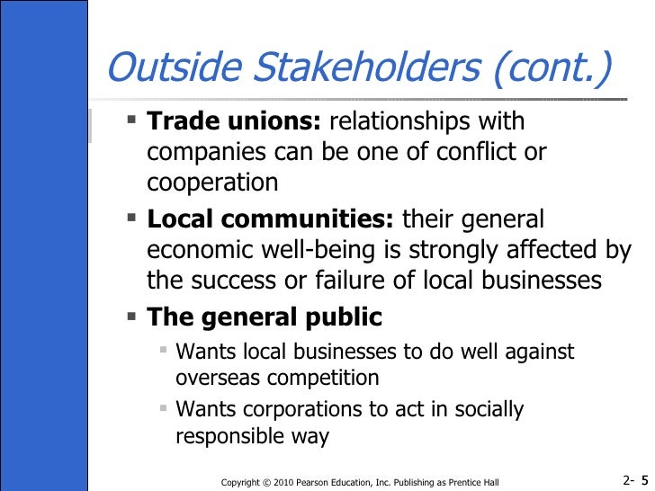stakeholders interested in trade unions for tesco This is a very interesting comment is free piece from an american trade union leader it would seem that as tesco expands into america, it has adopted a very american view of trade unions.