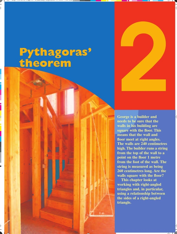 Pythagoras'theorem              2              George is a builder and              needs to be sure that the             ...
