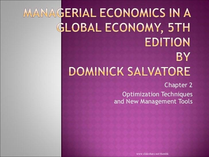 economic optimization definition