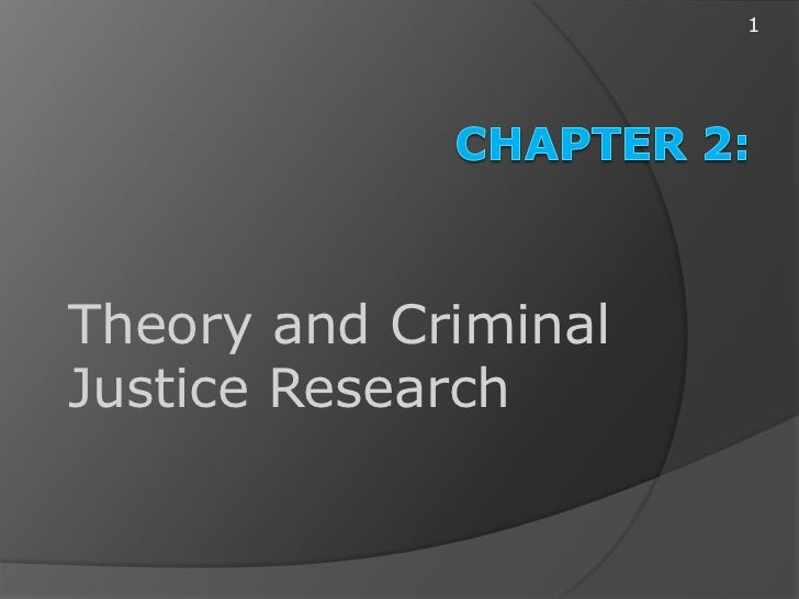 1Theory and CriminalJustice Research