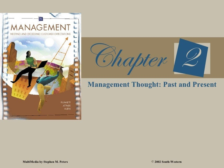 Management Thought: Past and PresentMultiMedia by Stephen M. Peters                    © 2002 South-Western