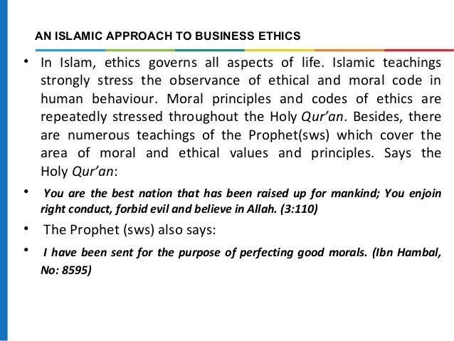 What are the basic moral values of islam