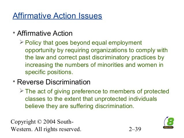 to what extent are affirmative action Dismantling the process of discrimination analyzes affirmative action as a means for affirmative action are at least extent of discrimination based.