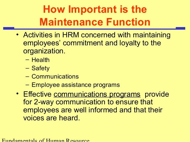 maintenance in hrm