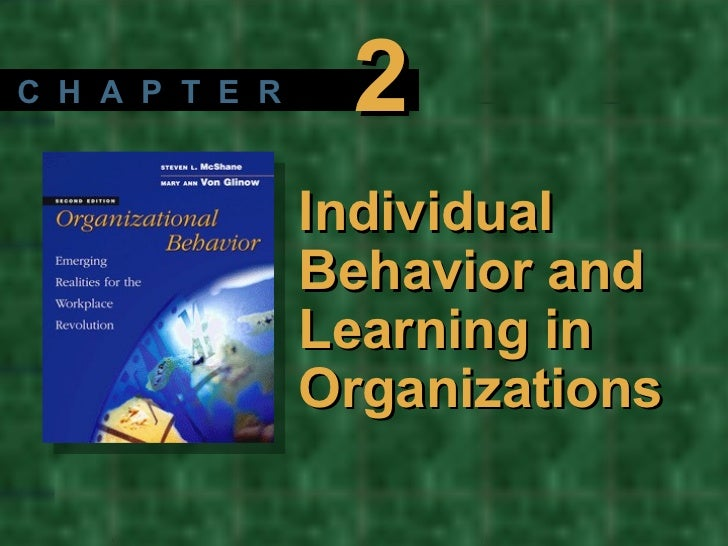 Individual Behavior and Learning in Organizations C  H  A  P  T  E  R 2