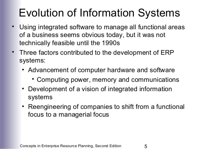 the evolution of erp system An erp system is used to identify and plan the resource needs of an enterprise  enterprise resource planning software has evolved from its.
