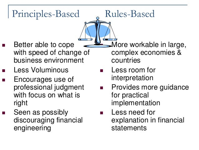 Rules-Based vs. Principle-Based Accounting