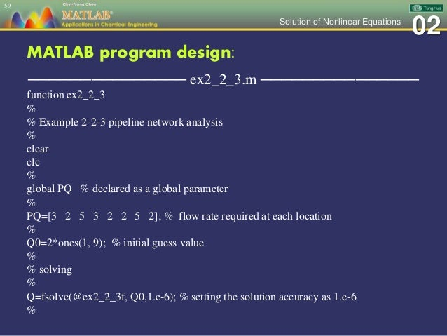 Ch 02 MATLAB Applications in Chemical Engineering_陳奇中教授教學投影片