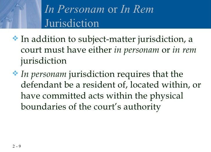 Quiz & worksheet understanding in personam jurisdiction | study. Com.