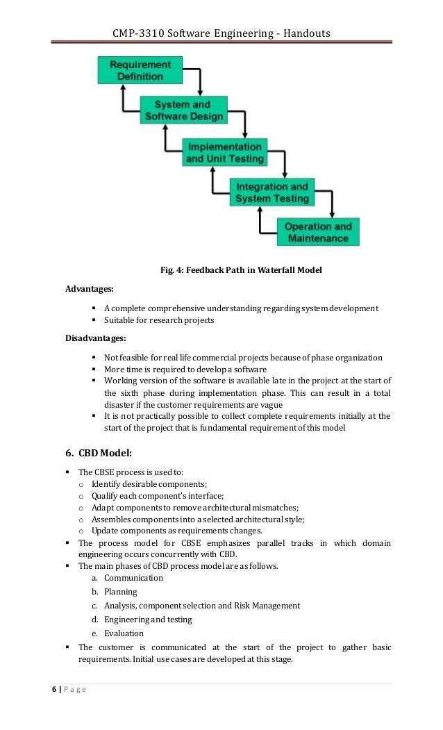 Ch 02 s e software process models 1 for Waterfall model is not suitable for