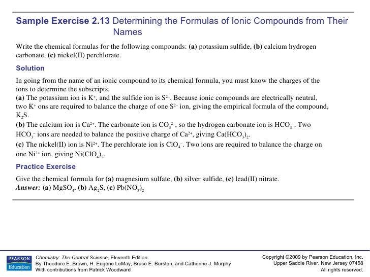 Ap Chem Chapter 2 Sample Exercises