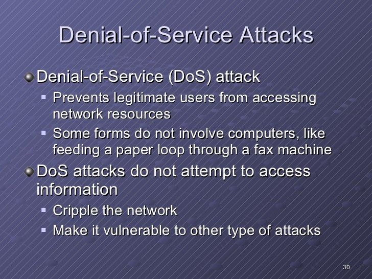 Denial of service attack research papers