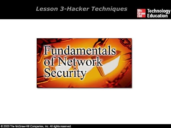 Lesson 3-Hacker Techniques