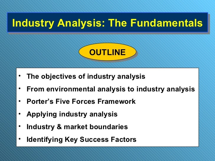 Industry Analysis: The Fundamentals <ul><li>The objectives of industry analysis </li></ul><ul><li>From environmental analy...