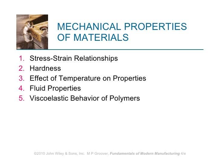 MECHANICAL PROPERTIES  OF MATERIALS <ul><li>Stress‑Strain Relationships </li></ul><ul><li>Hardness </li></ul><ul><li>Effec...