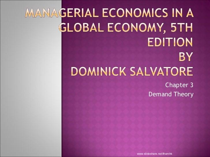 Chapter 3 Demand Theory www.slideshare.net/themhk