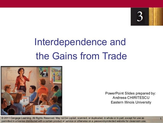 Interdependence and                              the Gains from Trade                                                     ...