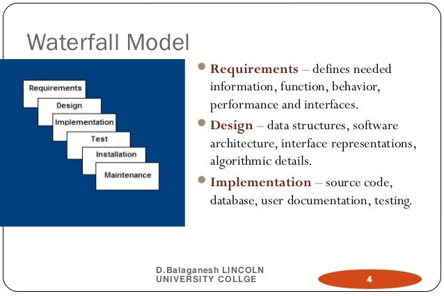 Ch03 software engineering model for Waterfall model design meaning
