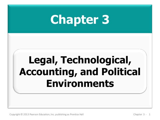 Chapter 3 Copyright © 2013 Pearson Education, Inc. publishing as Prentice Hall Chapter 3 - 1 Legal, Technological, Account...