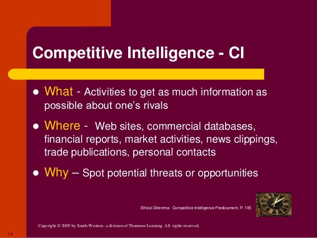 competitive intelligence predicament London--(business wire)--infiniti research, a global competitive intelligence solutions provider, has announced the release of their latest market intelligence study on the consumer goods industry.