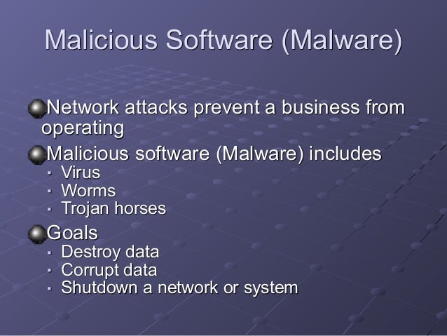 a description of computer virus and the various types of software malicious codes Types of virus & malicious code and protective measures : computer virus a computer virus is a self replicating computer program which can attach itself to other files/programs, and can execute secretly when the host program/file is activated.