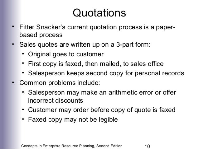 Chapter  Marketing Information Systems And The Sales Order Process