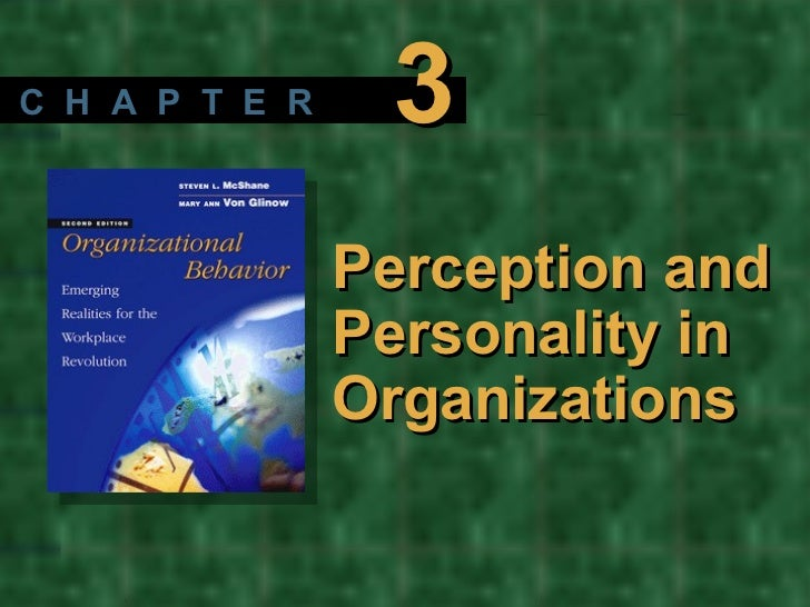 Perception and Personality in Organizations C  H  A  P  T  E  R 3