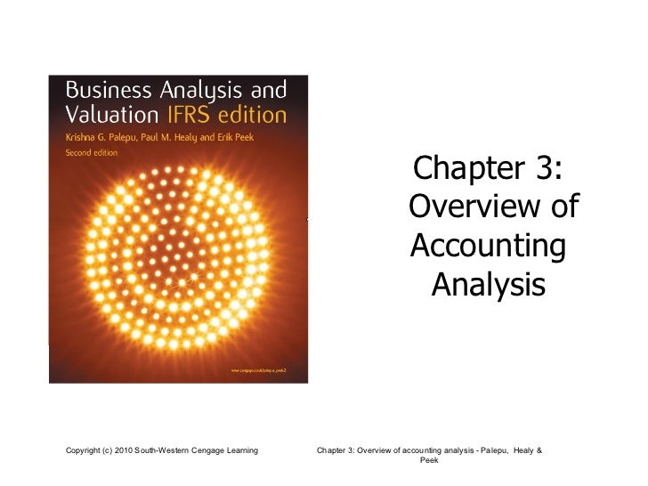 Chapter 3:  Overview of Accounting  Analysis