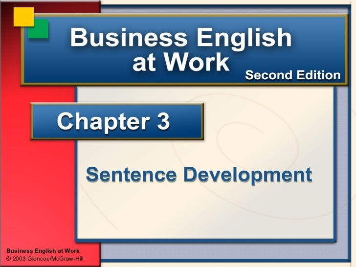Business English at Work© 2003 Glencoe/McGraw-Hill