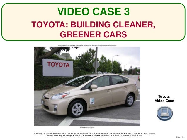 toyota building cleaner greener cars Content: discussion toyota: building cleaner, greener cars name institution toyota: building cleaner, greener cars question #1 the approach used by toyota in its social responsibility strategy relates to the three concepts of profit responsibility, stakeholder responsibility, and societal responsibility in various ways firstly, the company has.