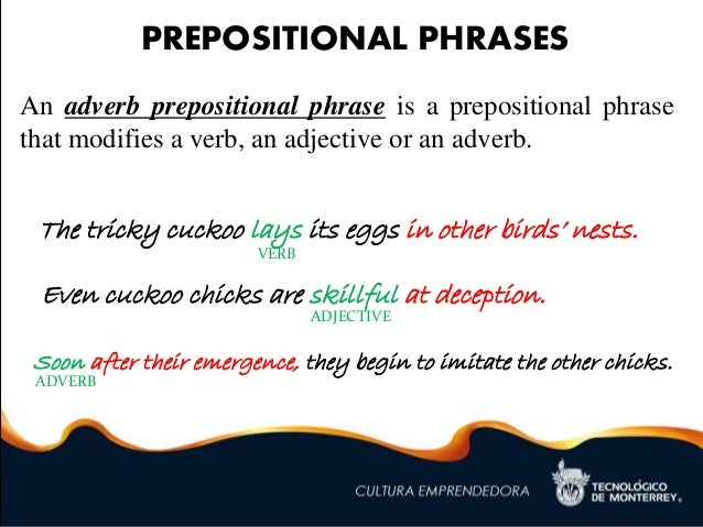 writing a blog post examples of prepositions