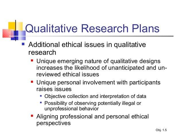 Qualitative study design