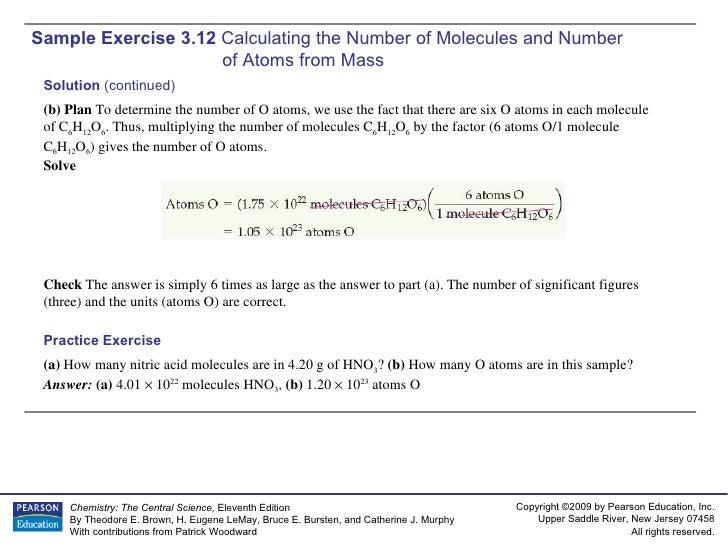 AP Chemistry Chapter 3 Sample Exercises