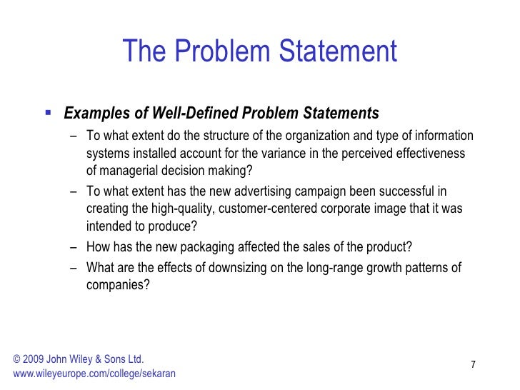 what is a problem statement
