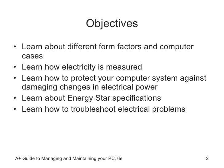 Chapter 4 Form Factors Power Supplies