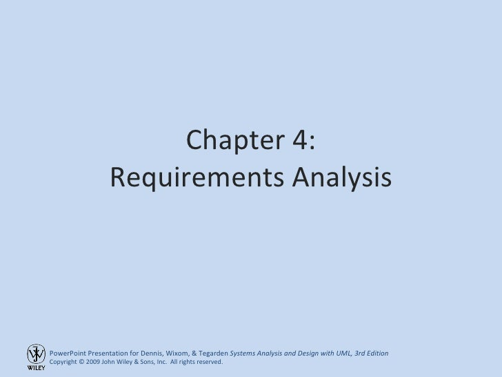 Chapter 4: Requirements Analysis