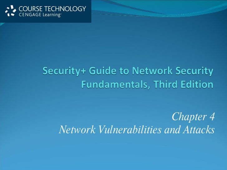 Chapter 4 Network Vulnerabilities and Attacks
