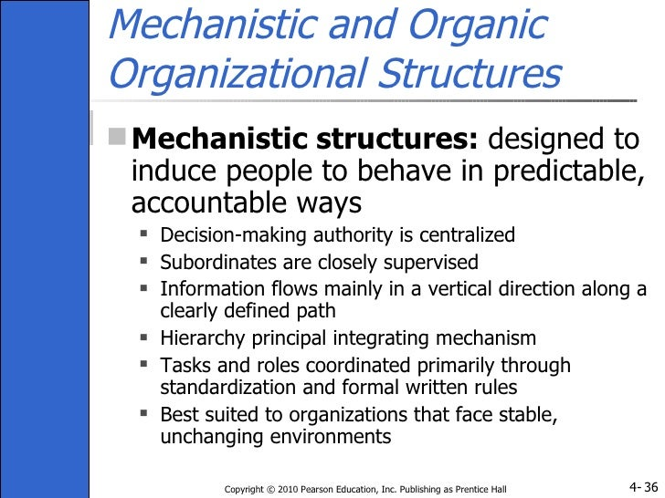 difference between mechanistic and organic models of organizational structure Trends in organizational structure mechanistic vs organic organizations you can think of it as machine versus biological models of organization mechanistic.