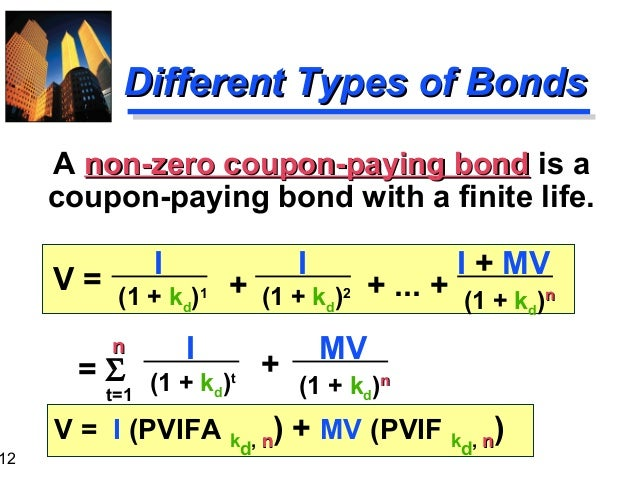 Example of Zero Coupon Bond Formula with Rate Changes