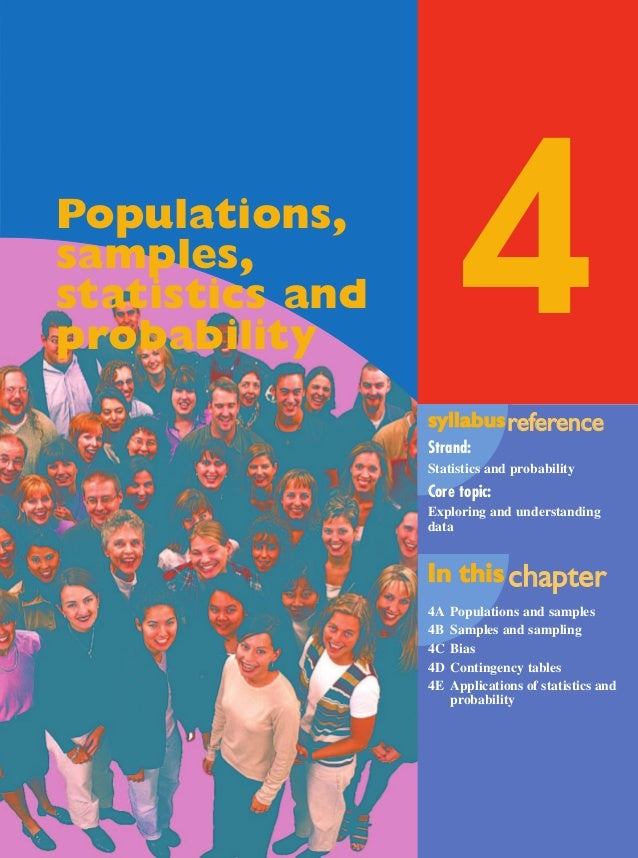 Maths A Yr 12 - Ch. 04 Page 167 Wednesday, September 11, 2002 4:07 PM  4  Populations, samples, statistics and probability...