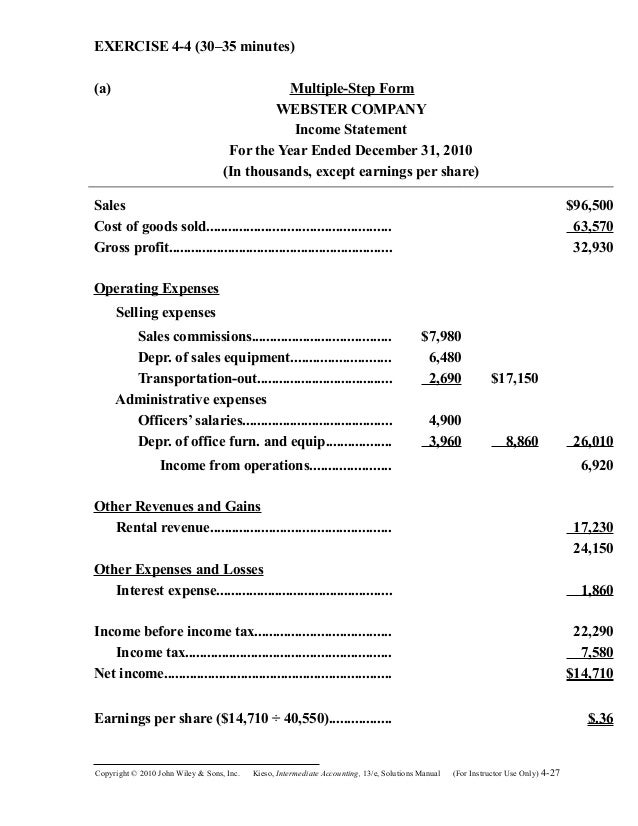 multi step income statement template excel - tax form 2010