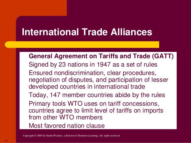 similarities differences of wto gatt Articles of agreement and the wto agreements overview of the provisions in the gatt 1994 and the fund/wto cooperation agreement the world trade organization and the post -uruguay round gatt agenda, in managing the world economy: fifty years after bretton woods 131.