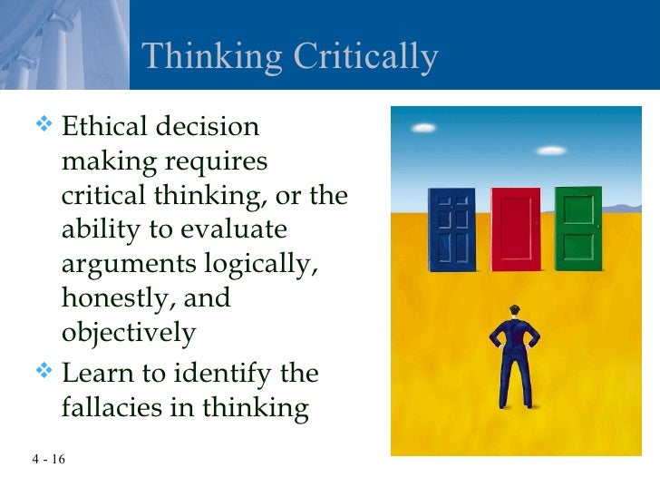 ethical decision making reflection Decision-making styles unit 4, ethical decision making and problem solving, focuses on situations involving ethical decisions and discusses the components of.