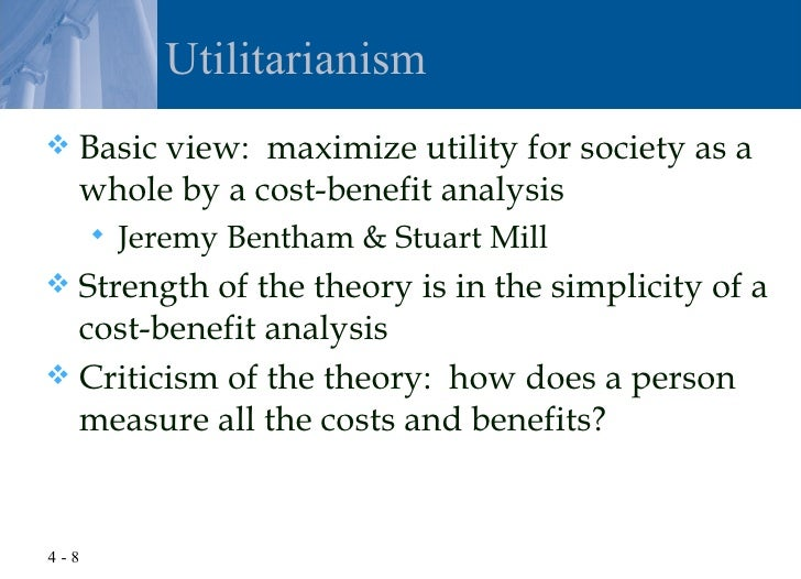 an introduction to the concept of utilitarianism Utilitarianism is a theory in normative ethics, or the ethics that define the morality of actions, as proposed by jeremy bentham and john stuart mill it is defined by utility , the.