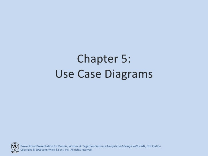 Chapter 5: Use Case Diagrams