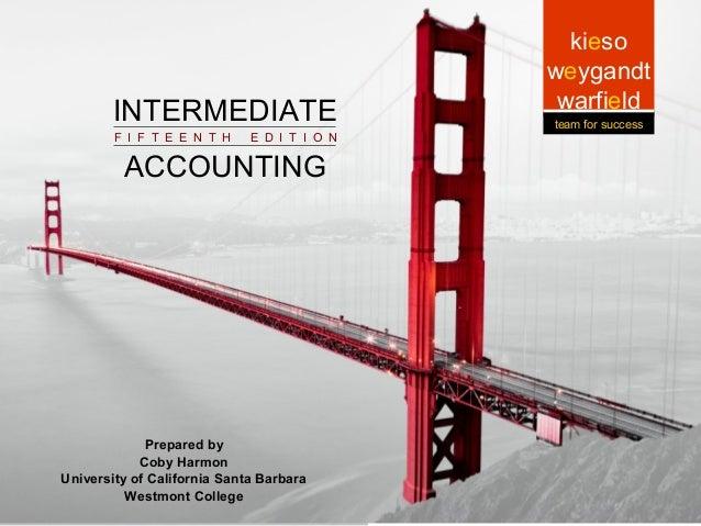 INTERMEDIATE  Intermediate ACCOUNTING Intermediate Accounting Accounting F I F T E E N T H  5-1  E D I T I O N  Prepared b...