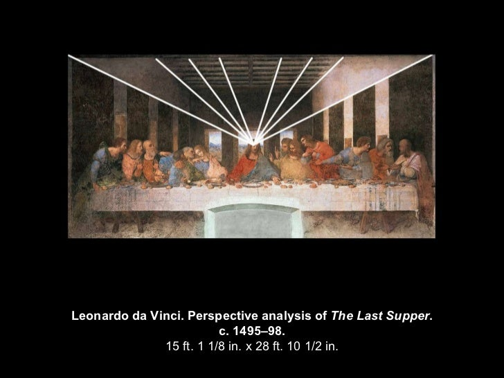 an introduction to an analysis of the last supper by leonardo da vinci In 1495, leonardo da vinci began painting the last supper on the wall of the refectory (dining hall) of santa maria delle grazie in milan, italy, and completed it in 1498 leonardo was commissioned to execute the painting in the dominican monastery of this church by duke of milan, ludovico sforza.
